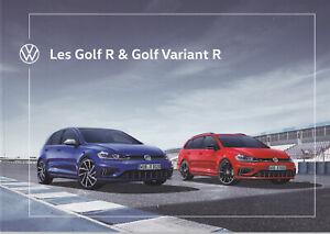 brochure 2019 VOLKSWAGEN GOLF R & GOLF R VARIANT !!! en français________________