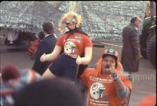 MIAMI DOLPHINS Man & Blow Up Doll Woman Fans Super Bowl XIX 1985 Slide Photo