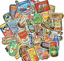 10pcs Snack Food Stickers Brand Spoof Sticker Pack Vinyl Funny Humor Decal