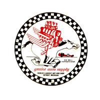 Gratiot Auto Supply Detriot, MI Vintage Hot Rat Rod Drag Racing Decal Sticker