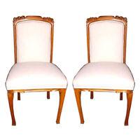 Pair of Art Nouveau Side Chairs, France 1900-1950 #5230