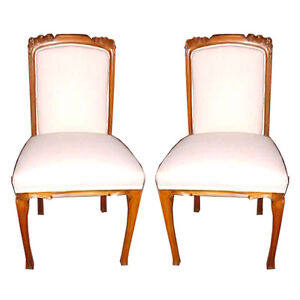 Pair of Art Nouveau Side Chairs, France 1900-1950 #9002