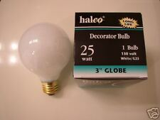 10-lot Halco 25W G25 White Long Life Globe Light Bulb