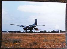 AVIATION, PHOTO AVION C160 TRANSALL, TYPE TFH, MATERIELPARACHUTE