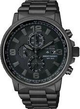 New Citizen CA0295-58E Eco-Drive Men's Nighthawk Chronograph Black PVD Watch