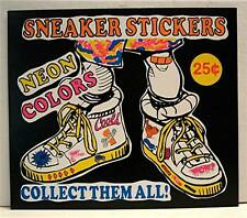 Old Cool Neon Sneaker Stickers Vending Machine Sign