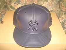 New York Yankees Leather New Era 59/50 59Fifty Fitted Hat 7 3/4 (New)