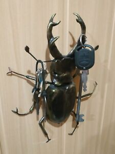 Stag beetle key holder