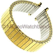 16-22mm Speidel Gold Tone Stainless Steel Twist-O-Flex Mens Watch Band 672/12