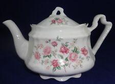English Teapot Staffordshire Arthur Wood & Son Vintage 1970s Pink Roses Floral