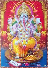 Lord Ganesha with Shell Chakra Gada like Vishnu - POSTER (Big Size 20x30)