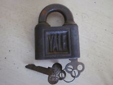 Antique Yale Padlock W. Key
