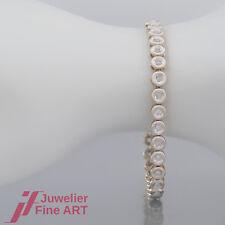 Tennis-Armband mit 32 Brillanten(Diamant)ges. 0,80ct - 14K/585 Gelbgold/Weißgold