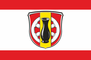 Aufkleber Rödermark OT Urberach Fahne Flagge 30 x 20 cm Autoaufkleber Sticker