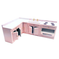 1/12 Miniature Kitchen Cabinet DIY Dollhouse Furniture, Accessory