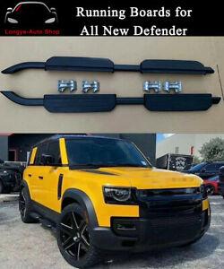 4 Doors Fits For Defender L851 2020 2021 Running Boards Side Step Nerf Bars