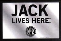 Jack Daniels Lives Here Nostalgie Barspiegel Spiegel Bar Mirror 22 x 32 cm