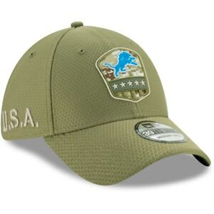 Detroit Lions New Era 2019 Salute to Service Sideline 39THIRTY Hat Olive