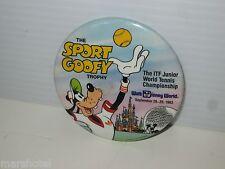Walt Disney World Sport Goofy Tennis Championship 1983 Pinback Button Pin Badge