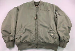 Polo Ralph Lauren MA-1 Military Army US Air Force Flight Bomber Jacket Large