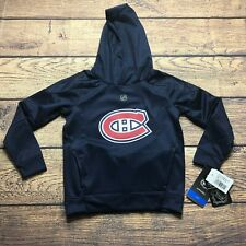 NHL Montreal Canadiens Youth Boys Large 7 Mach Pullover Hoodie Sweatshirt NEW