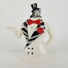 Vintage B Kliban Cat Teapot Coffee Pot AS IS Figurine 70s 80s Tux Tuxedo Top Hat