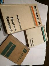 3 Wörterbücher DEUTSCH RUSSISCH DEUTSCH
