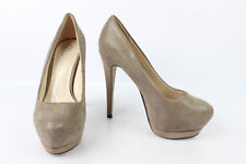 Court shoes BATA Suede Synthetic Taupe clear T 36 MINT