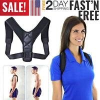 Back Posture Corrector Shoulder Straight Support Brace Belt Therapy Men Women US