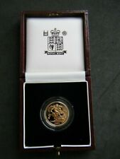 More details for 1991 royal mint proof full gold sovereign - 30th birthday year (boxed)