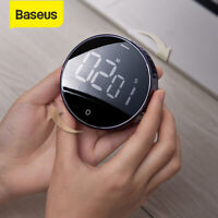 Baseus LCD Digitaler Timer Kurzzeitmesser Magnet Countdown Stoppuhr Eieruhren