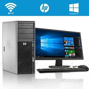 HP Desktop Tower PC TFT Monitor Bundle 8GB RAM 1TB HDD Windows 10 Computer