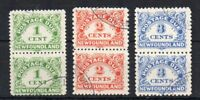 Canada - Newfoundland 1939-49 1c, 2c and 3c Postage Dues in vert pairs FU CDS