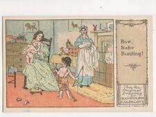 Randolph Caldecott Bye Baby Bunting Vintage Art Postcard 181b