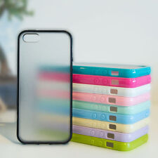 Slim Tpu parachoques caso clara duro Posterior Para Iphone 5c 5s 5 4 4s Gel Funda De Silicona