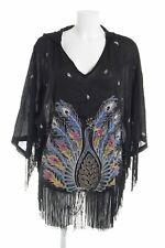 ONEILL Poncho mehrfarbig Damen schwarz Pullover Sweater