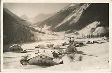Gries im Sellrain, Tirol, Ortspartie mit Kirche im Winter, Foto-Ak von 1943