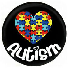 1pc Snap Jewelry AUTISM Heart Puzzle Enamel Charm 20mm fits Ginger Snaps NEW
