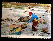 vintage postcards fishing wiggle card