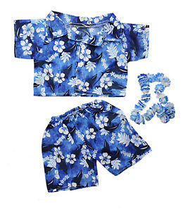 "Hawaiian Boy w/Flower Lei Teddy Bear Clothes Fits Most 14""-18"" Build-a-bear and"