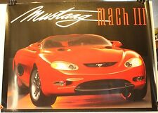 """Mustang Mach III Dealer Auto Show 18 x 24"""" Poster Ford"""
