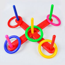 AU Funny Hoop Ring Plastic Toss Quoits Garden Game Pool Kids Toys Outdoor Set