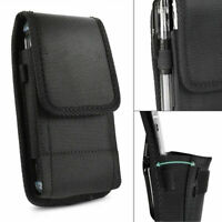 Carrying Belt Clip Vertical Holster Pouch Case For Apple Large CellPhone Samsung