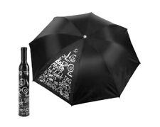 Wine Bottle Umbrella Black & Silver NEW