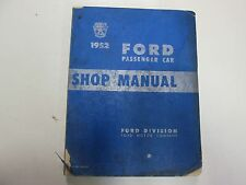 1952 Ford Passenger Car Service Shop Manual Stained Worn Damaged Factory Oem 52