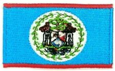 us seller small Belize national country Flag sew or Iron On Patch 1663