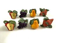 8 Charter Club Napkin Rings Casuals Summer Grove Fruit Strawberries, Grapes, etc