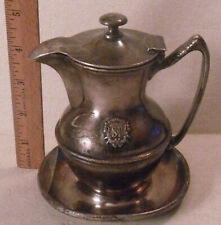 ANTIQUE VTG REED & BARTON SILVER SOLDERED HINGED PITCHER CREAMER ST. PAUL HOTEL