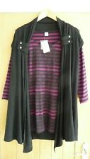 Ladies MS Mode Top and Waist Coat Size Large BRAND NEW 2 Piece Set