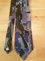 Men's Oscar De La Renta Couture Collection 100% Silk Abstract Print Tie CLASSIC